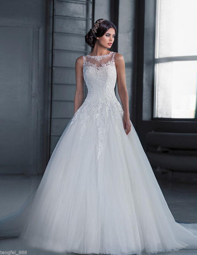 فستان زفاف من Vestido De Noiva بأكمام طويلة من الدانتيل خمر 2020 ذيل الزفاف تول Mariage