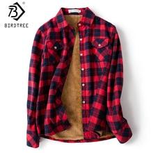 Camisa a cuadros de terciopelo para mujer, Tops gruesos de manga larga, blusa informal a cuadros de lana para M-5XL, ropa de otoño, T77710A