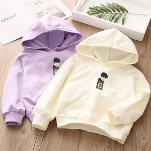2 3 4 5 6 7 8 Years Toddler Girls Hoodies Spring New Arrival Hooded Sweatshirt for Girl 2020 Spring Casual  Baby Kids Pullover