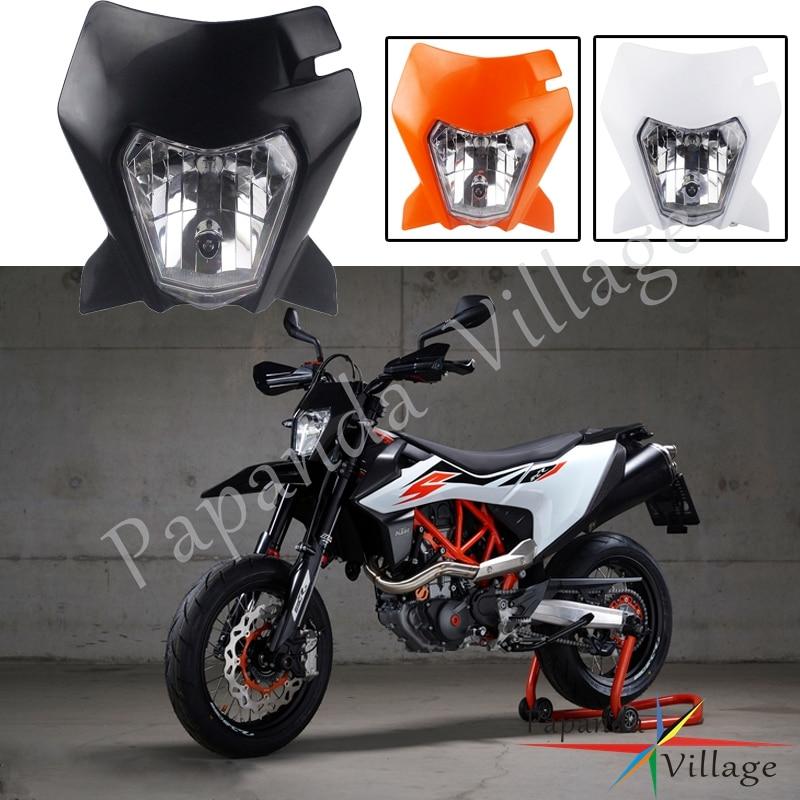 Linterna frontal de plástico para bicicleta KTM 690 Enduro R Dirt, 3 colores, Luz de 35W, faro para todoterreno para SMC R 690, Supermoto, Faro de carenado
