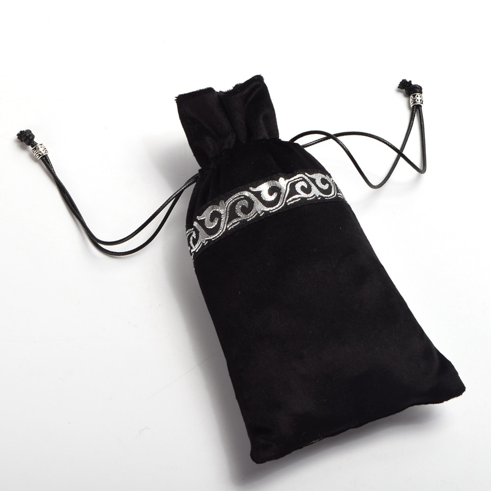 Azul negro terciopelo mezcla Mini BOLSA bolsa Vintage Medieval Cosplay