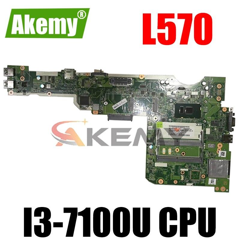 LA-C422P لينوفو ثينك باد L570 اللوحة الأم وحدة المعالجة المركزية: I3-7100U DDR4 FRU 01YR416 01ER253 01YR417 01ER254 اختبار Ok