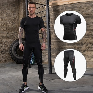 fitness clothing nepoagym Men's Sports Suit Men's running suit Men's fitness clothes Men's sportswear