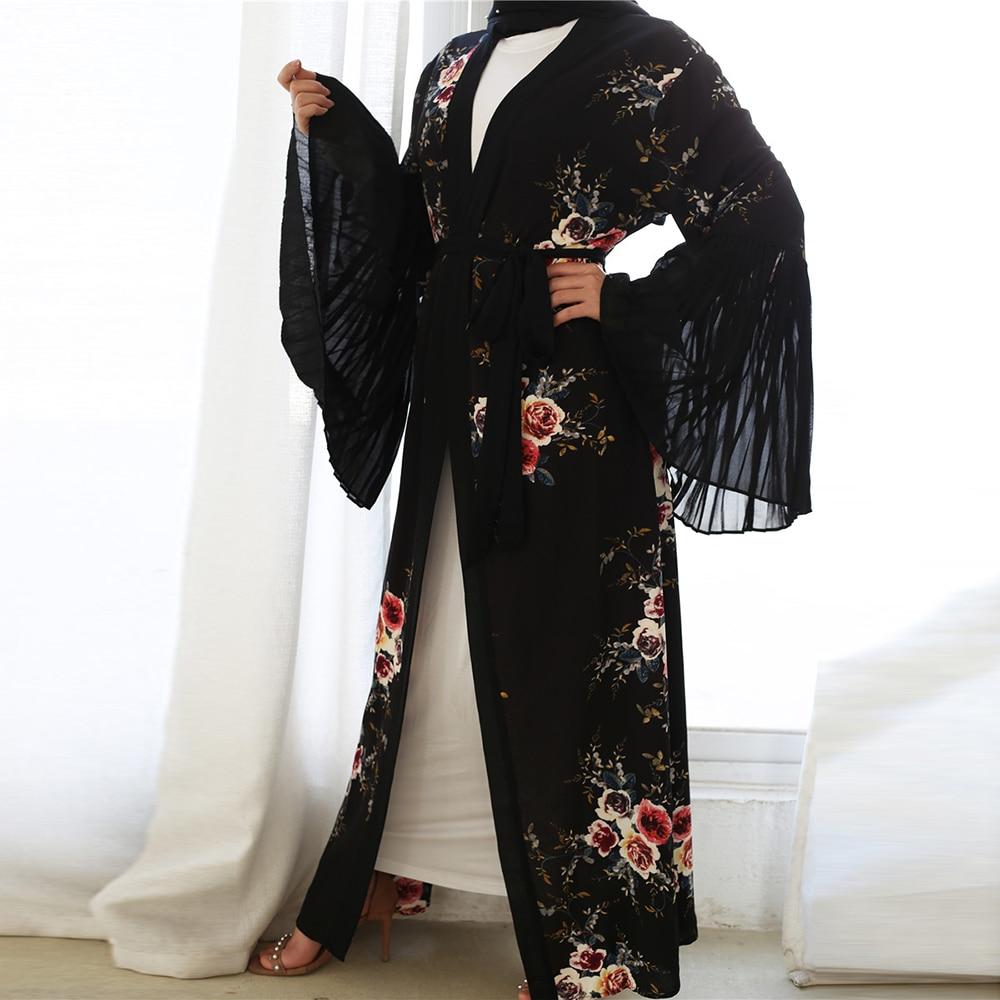 Abayas For Women Kaftan Dubai Caftan Ramadan Saudi Arabic Abaya Mujer Kimono Cardigan Hijab Muslim Dress Islamic Clothing Oman