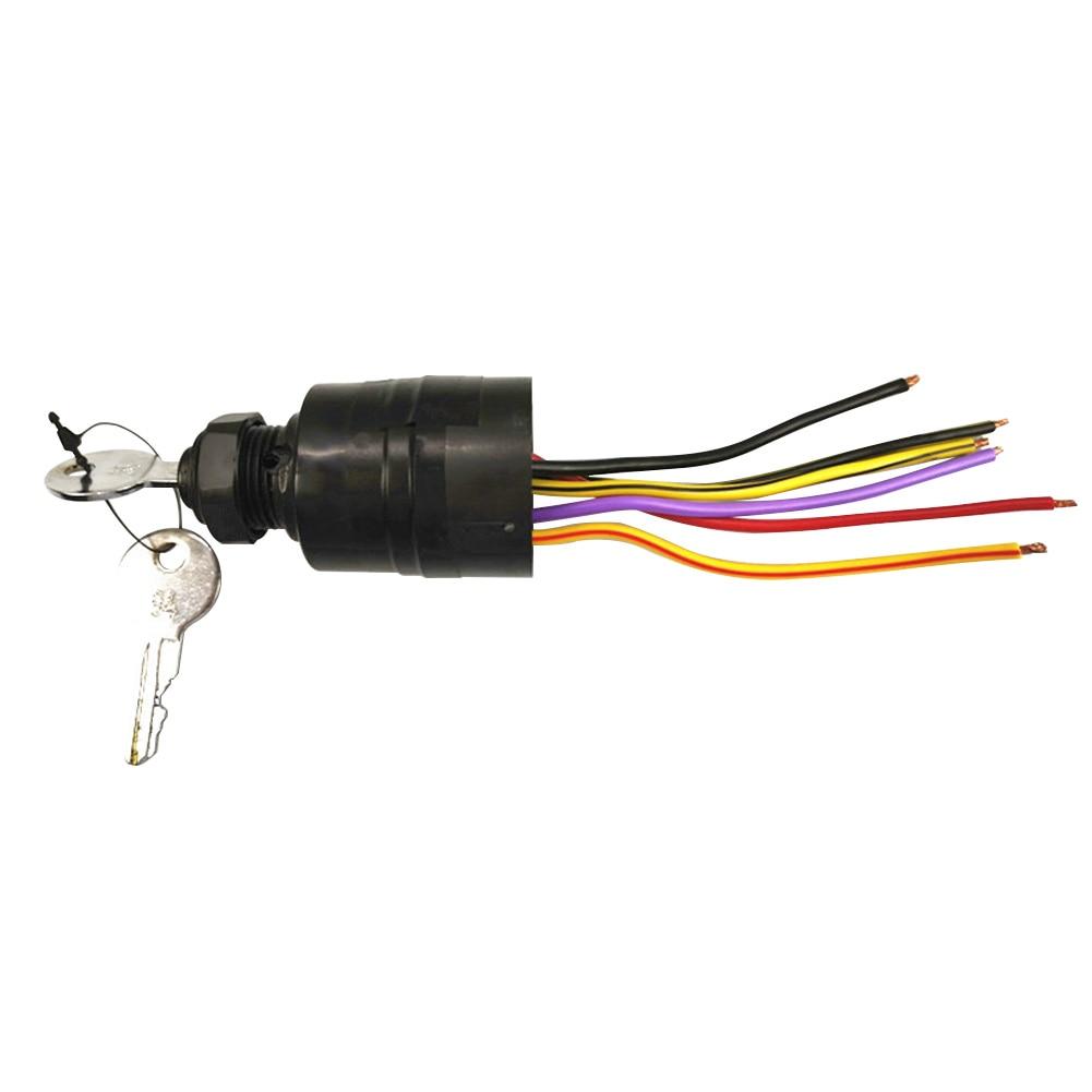 Motor de barco de 6 cables, fácil instalación, caja de Control de piezas de Motor fueraborda marino con 2 teclas, interruptor de encendido para mercurio