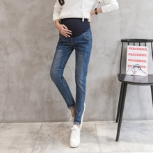 Denim Maternity Jeans Pants For Pregnant Women Trousers Casual High Quality Elastic Waist Stretch Je