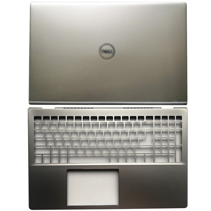 Чехол для ноутбука DELL inspiron 5501, 5504, 5505, серебристый чехол для ноутбука, чехол для ЖК-дисплея, задняя крышка, подставка для рук, верхний чехол чехол
