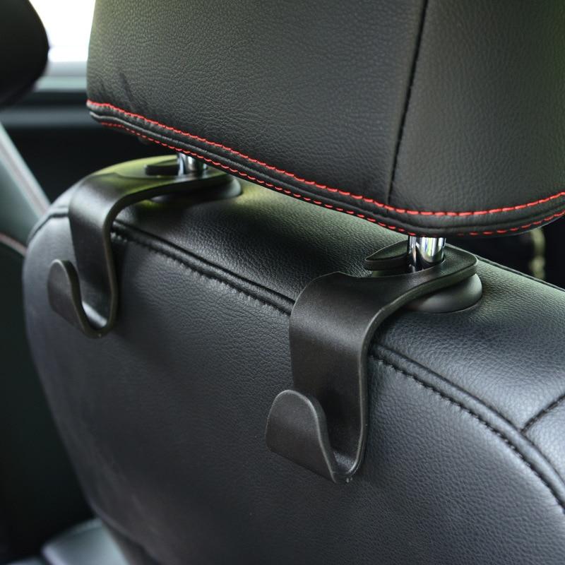Gancho duradero para asiento de coche, gancho para SUV, colgador de reposacabezas de asiento trasero, ganchos de almacenamiento para comestibles, gancho para bolso de mano