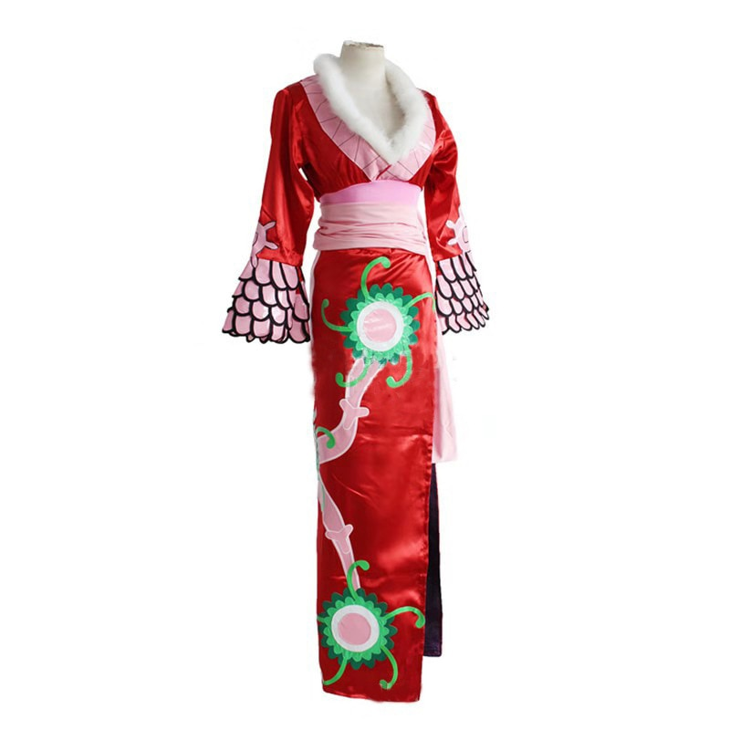 Cosdaddy boa hancock cosplay traje feminino anime cosplay vestido vermelho rainha conjunto completo cheongsam
