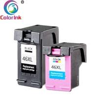 ColoInk 46XL Ink Cartridge 46 XL compatible For hp46 for 46 DeskJet 2520hc 2020hc 2025hc 2029 2529 4729 Printer CZ637AA CZ638AA