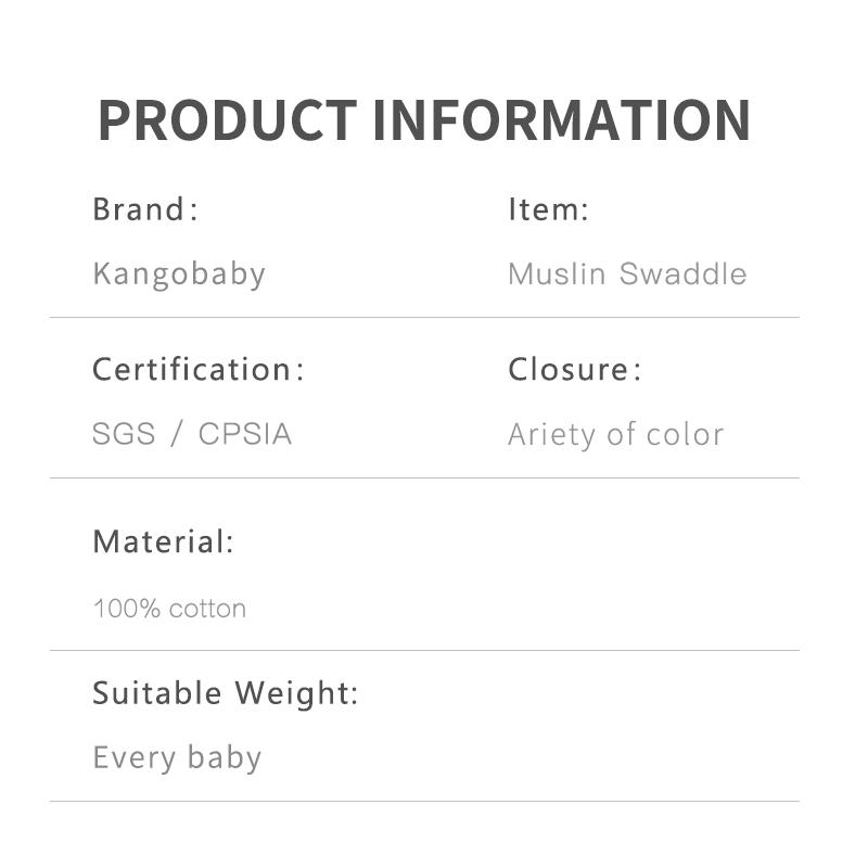 2 pieces/pack  Kangobaby muslin baby swaddle Blanket Newborn Baby Bath Towel Swaddle Blankets Multi Designs Functions Baby Wrap