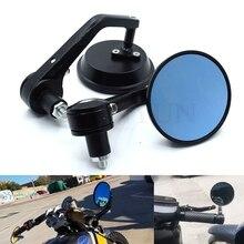 "Universal 7/8"" 22mm motorcycle handlebar end mirror for Yamaha R1 R6 R125 R15 FZ16 FZ1 MT09 MT07 FZ6 XJR1300 FZ6 FAZER FZ6R FZ8"