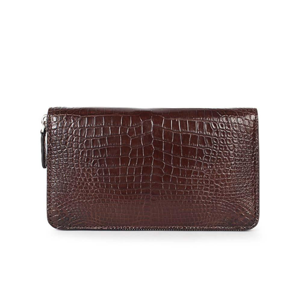 yuanhui new  crocodile  male  wallet  long  wallet  Hand bag   large capacity  business men clutch bag crocodile leather wallet