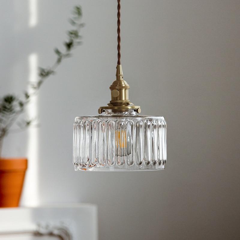 Modern LED Pendant Light Kitchen Hanging Lamps Dinning Room Vintage Lighting Gold Glass Indoor Living Room Hallway Light Fixture