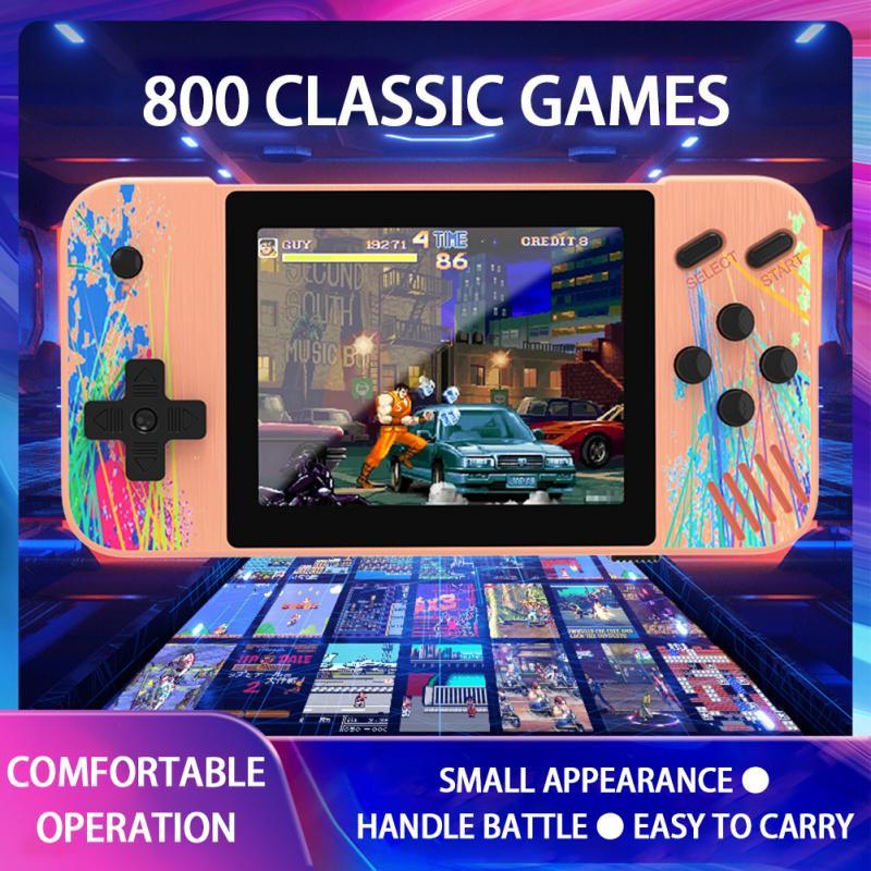 G3 Ретро видео игровая консоль со встроенными 800 + классическими играми 3,5 дюйма портативная игровая консоль Ретро Видео игровой экран HD игро...