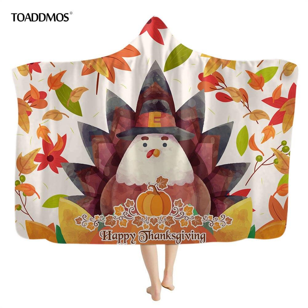 Toadimos لطيف تركيا أوراق القيقب طباعة الشكر مقنعين بطانية للأطفال الكبار الدافئة الصوف أريكة غرفة نوم رمي بطانية مانتا