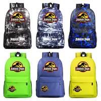 Fashion Adventure Dinosaur Jurassic Park World Boy Girl Book School Bag Women Bagpack Teenagers Schoolbags Men Student Backpack