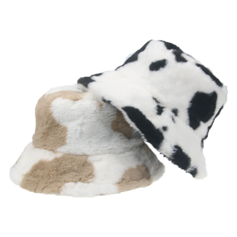 панама панама женская панама мужская кепка шляпа женская панамка Панама женская меховая в стиле хип-хоп с принтом коровы