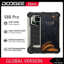 DOOGEE S88 Pro Rugged SmartPhone 10000mAh Helio P70 Octa Core 6GB RAM 128GB ROM IP68/IP69K Mobile sm