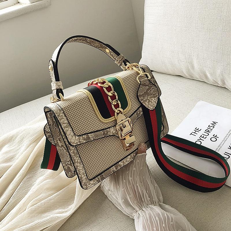 Ladies Shoulder Bag Small Crocodile Print Flap Bags For Women 2020 Leather Mini Handbag Lady Messenger Crossbody Hand Bag