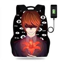 anime death note backpack boys girls teenager school bags children student knapsack men women usb charging rucksack travel bags
