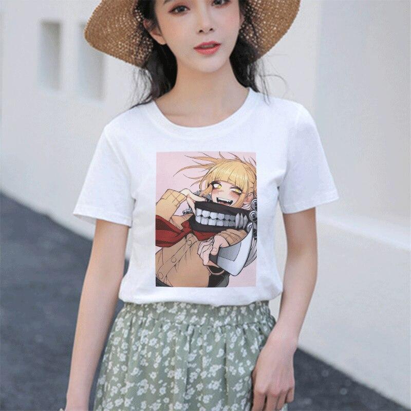 Camiseta de anime do mal camiseta engraçado hentai himiko toga topo das mulheres kawaii dos desenhos animados t camisa feminina harajuku mal streetwear academia
