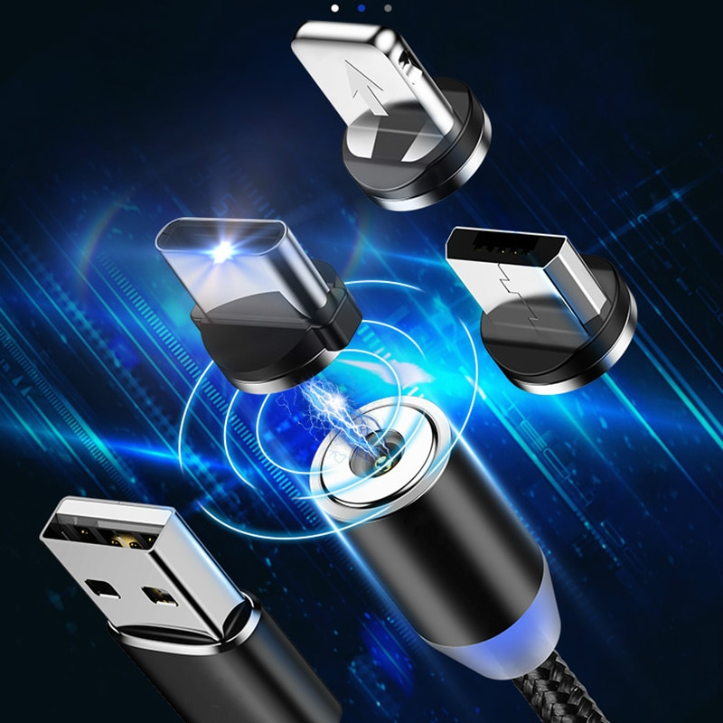 Круглые Металлические Магнитные адаптер кабельного штекера Вид аксессуаров C/Micro USB/8 pin быстрой зарядки Android Type-C кабель телефонные затычки против пыли-1
