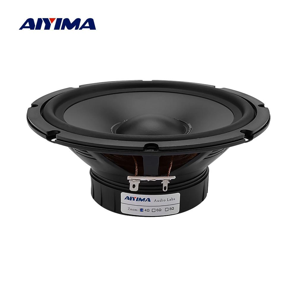 AIYIMA 1 Pza 6,5 pulgadas altavoz de bajo de rango medio 4 8 Ohm 30W Home Theater impermeable medio Woofer PP lavabo de goma altavoz de exterior
