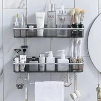 Etagere de salle de bain sans poincon  etagere de rangement pour shampoing  cosmetiques  serviettes  organisateur de coin de bain  articles menagers  accessoires de salle de bain