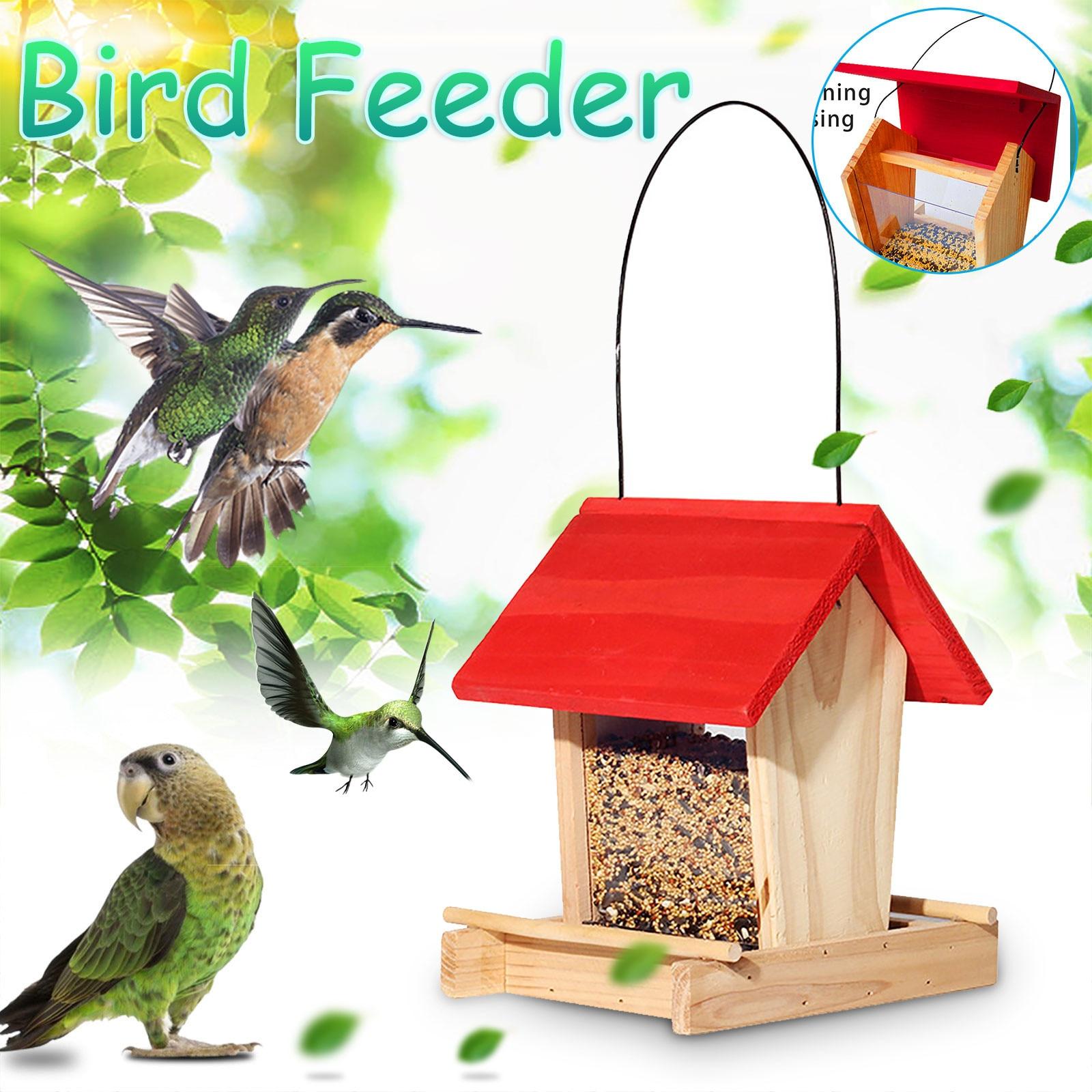 Alimentador de madera Para aves, Para patio, Villa, balcón, colgante, a prueba...