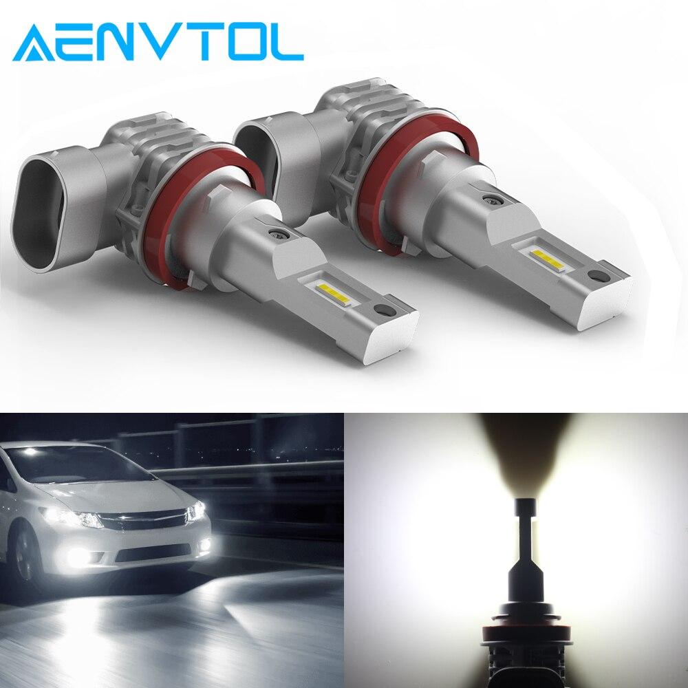AENVTOL 2x Canbus H8 H11 H9 LED 9005 HB3 9006 HB4 For Toyota C-HR Corolla Rav4 Yaris Avensis Camry CHR Auris LED Fog Light Blub