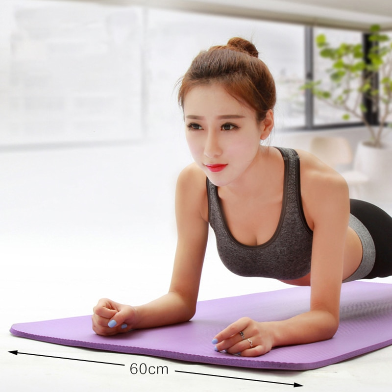 10mm Thick Yoga Mat Non Slip NBR Folding Yoga Blanket Yoga Pilates Mattress Gym Home Workout Training Fitness Sport Carpet Pad