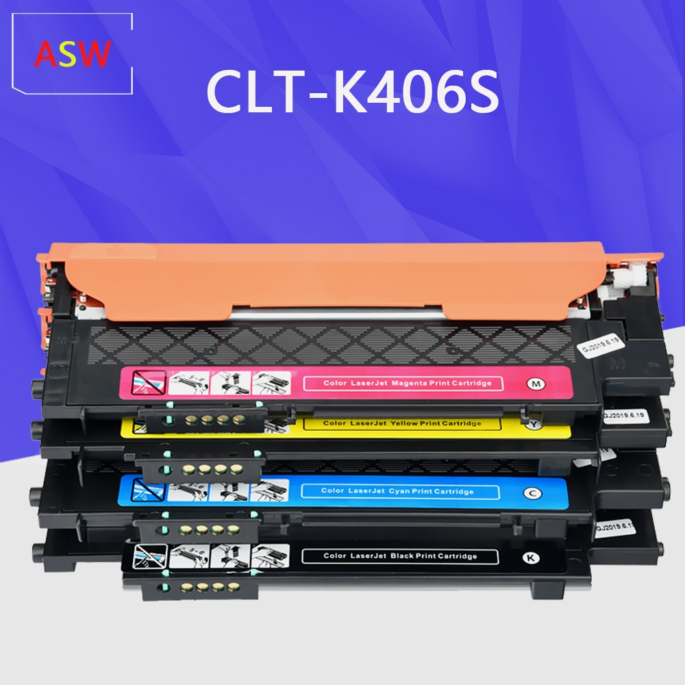 Совместимый тонер-картридж для samsung CLT-406S C406S M406S Y406S CLT-K406S 365w 366W CLP-360 C460FW 3306FN 3305W