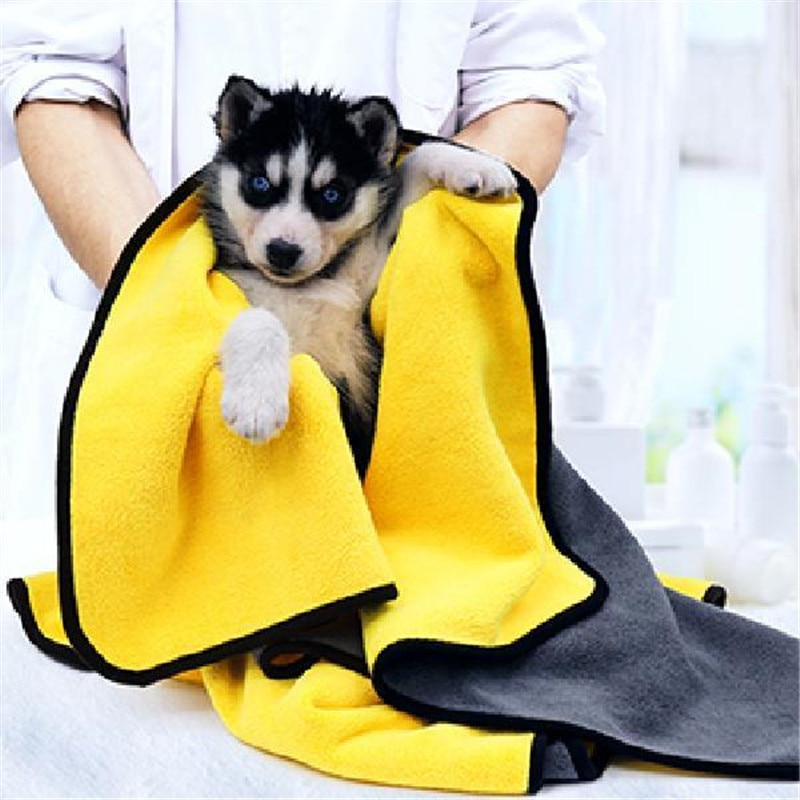 New Absorbent Towels for Dogs Cats Fashion Bath Towel Nano Fiber Quick-drying Bath Towel Car Wiping