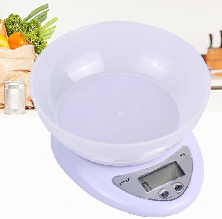 ميزان طعام رقمي للمطبخ ، 100 جرام/1 جرام ، 5 كجم ، 5000 قطعة ، ميزان الكتروني Led مع إضاءة خلفية ، بالجملة