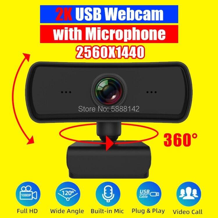 Cámara Web 1080p 60fps para ordenador, cubierta de cámara USB 360, 4k,...