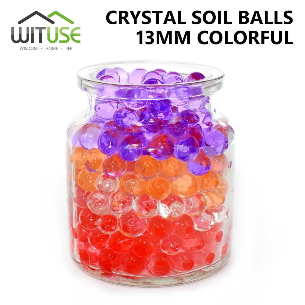 1000 unids/lote Big Crystal Soil Mud Hydrogel niños juguete cuentas de agua flor/decoración creciente bolas de agua decoración grande del hogar