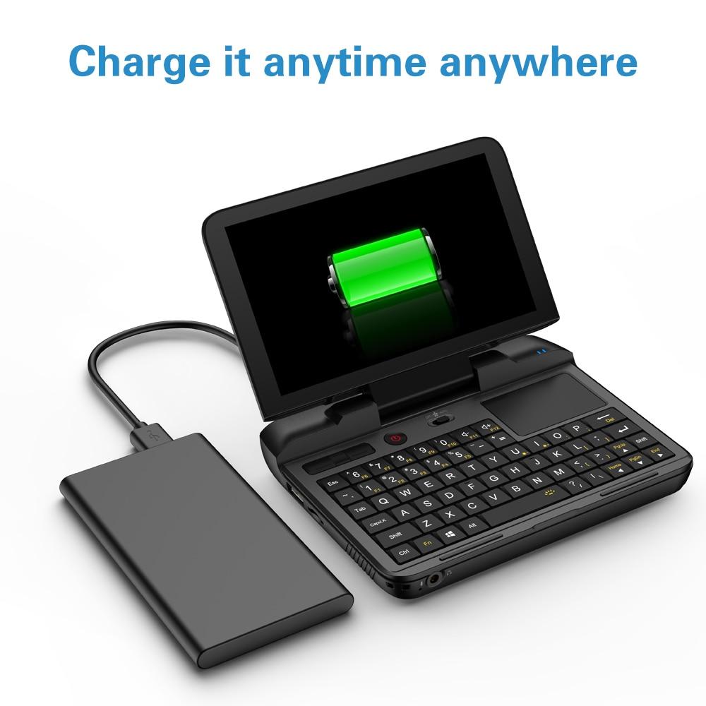 Cheap Pocket Laptop Netbook Computer Notebook GPD MicroPC 6 Inch RJ45 RS232 HDMI-Compatible  Windows 10 Pro 8G RAM Backlit Black