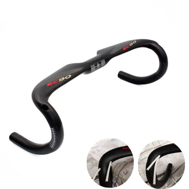 2020 mais novo fibra de carbono guiador da bicicleta estrada preto fosco curvado sulcos gota lidar com barras 3 k mate 31.8*380/400/420/440mm