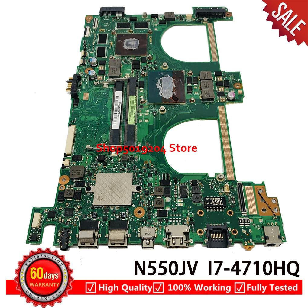 N550JV اللوحة لابتوب ASUS N550J N550JV اللوحة SR1PX I7-4710HQ N15P-GT-A2 N550JV REV 2.1