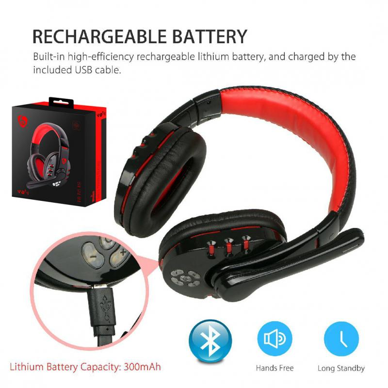 Jugador Bluetooth inalámbrico auriculares Gaming gran auriculares estéreo de auriculares Bass envolvente sonido micrófono para el ordenador portátil PS4 PC CS ir DOTA Xbox