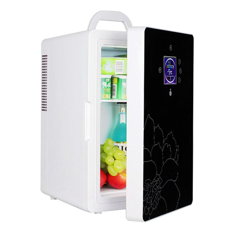 DC-005 refrigerador de coche 16L pantalla LCD de doble núcleo control de temperatura Mini refrigerador hogar dormitorio cosmético/nevera de insulina