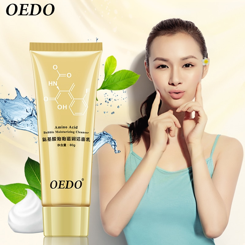 Amino Acid Bubble Moisturizing Facial Pore Cleanser Face Washing Product Face Skin Care Anti Aging W