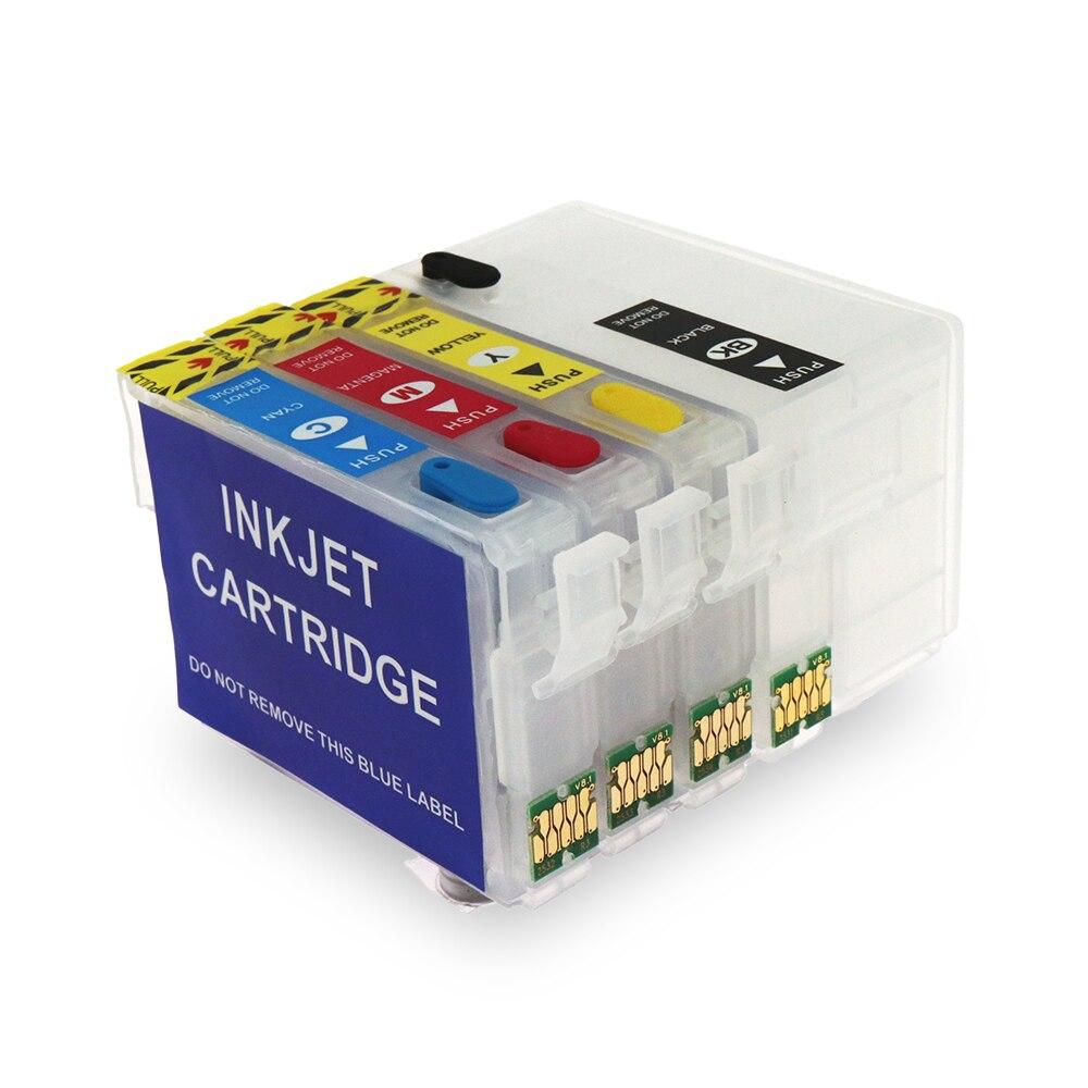 252 252XL T2521 cartucho de tinta rellenable con arco Chip para Epson WF-3620 WF-3640 WF-7610 WF-7620 WF-7110 WF-7710 T2521Cartridge