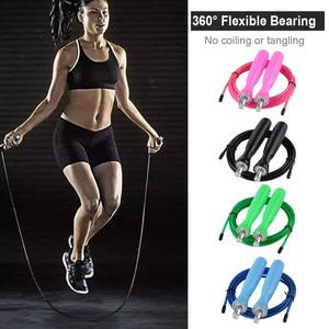 #H45 Portable Durable Fitness Skipping Rope and Easy Adjust Jumping Rope Adult Women Men Indoor Workout Jump Rope