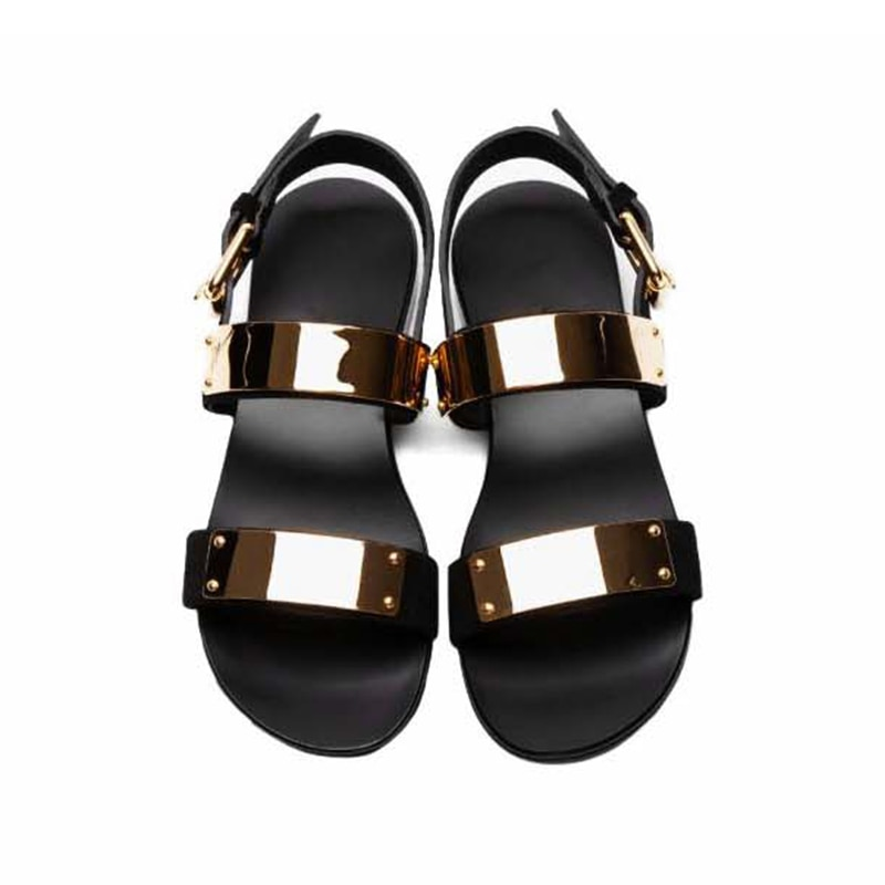 Sandalias de cuero auténtico 2020 para hombre, Zapatos de verano para hombre, Zapatos para Mujer, Zapatos de moda Rome Rock, Sandalia de hombre, ¡US6-10!