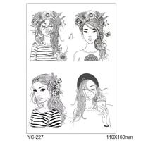 pretty cartoon girls transparent clear stamps for diy scrapbookingcard making stamps fun decoration supplies