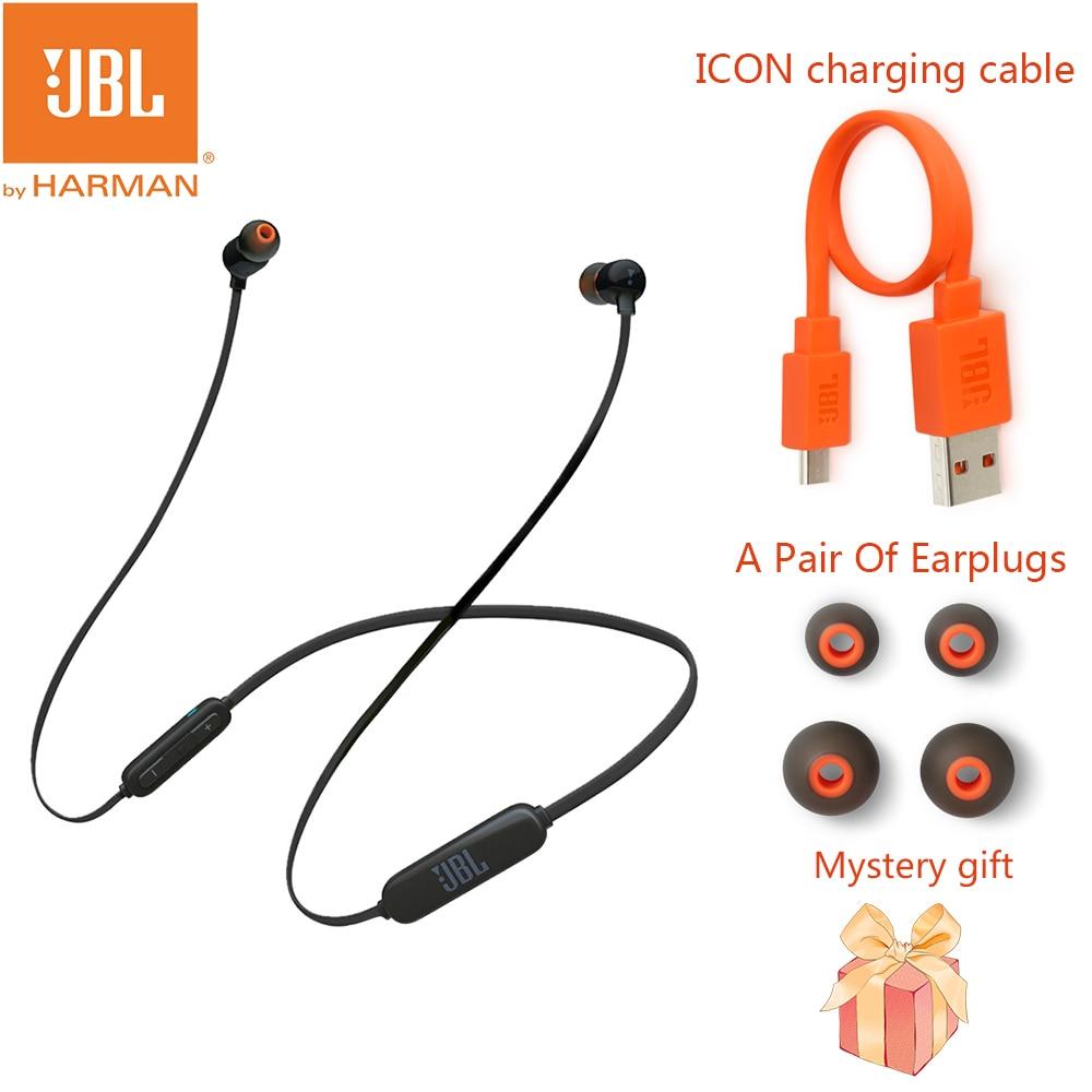 JBL-سماعة رأس بلوتوث لاسلكية ، سماعة رأس رياضية ، ستيريو ، صوت جهير ، مع ميكروفون ، دعم هواوي شاومي ، T110BT