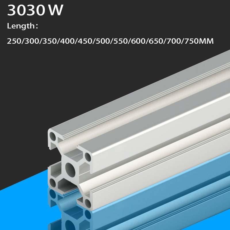 3D Printer Parts 3030W Aluminum Profile European Standard Anodized Linear Rail Aluminum Profile Extrusion 3030 Extrusion 3030