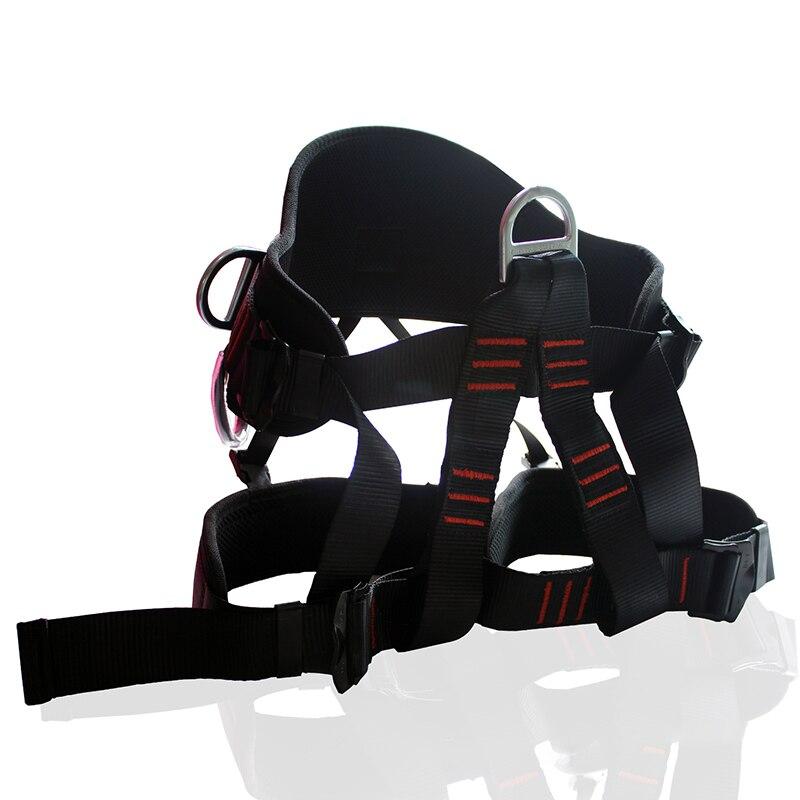 2500KG seguridad en la escalada exterior cinturón de escalada arnés de escalada de roca medio cuerpo arnés suministros de protección equipo de supervivencia
